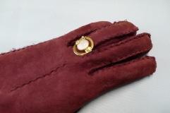 Geel gouden ring met parel en briljant