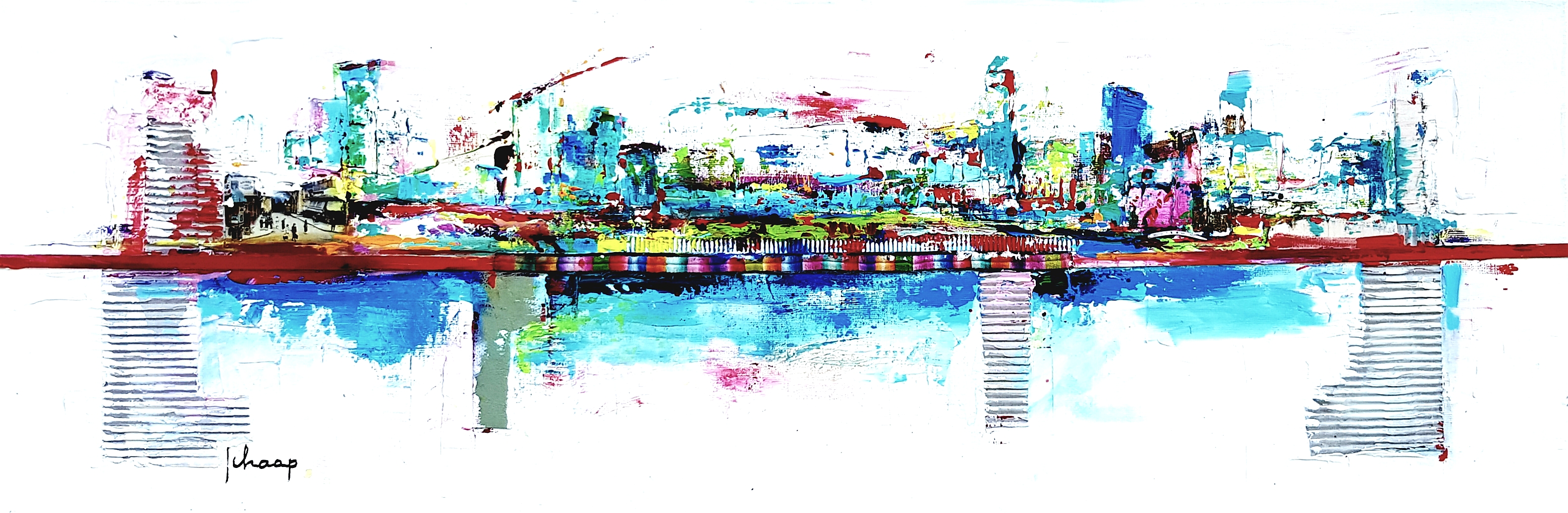 40 x 120 cm On the road